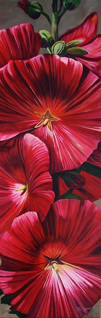 Red Hollyhock SOLD