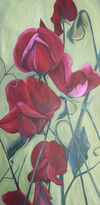 Red Sweetpeas SOLD